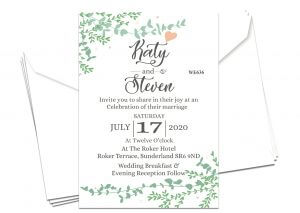 Custom Printed Wedding Invitation Business Cards with CP Print Services