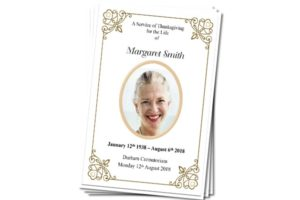 Personalised Funeral Memorial Order of Service