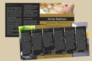Folded square leaflet